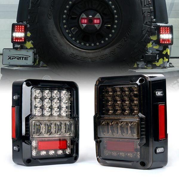 Destroyer Series LED Taillight For 2007 - 2018 Jeep Wrangler JK