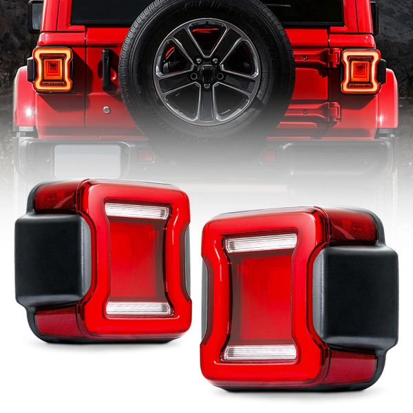 Infinity Series LED Taillight with Red Lens For 2018+ Jeep Wrangler JL