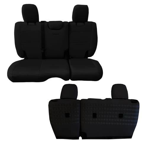 JEEP WRANGLER JLU BARTACT TACTICAL 4 DOOR BENCH SEAT COVERS 2018-20 NO ARMREST
