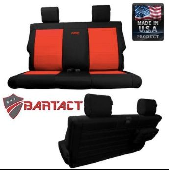 JEEP WRANGLER JL BARTACT TACTICAL 2 DOOR BENCH SEAT COVERS 2018-20