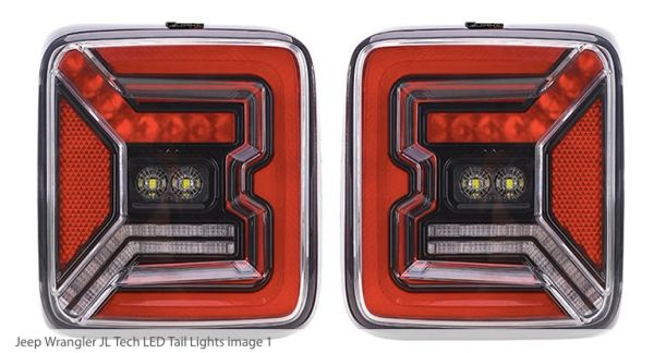 Quake 2018- current Jeep Wrangler JL LED Tech Taillights