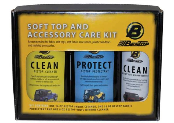 Bestop softtop cleaner trio for Jeep Wrangler