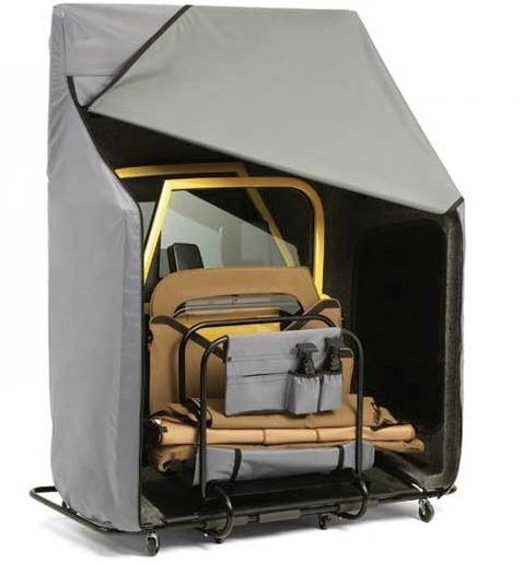 Bestop Hoss Door Cart Storage With Cart Cover - Black
