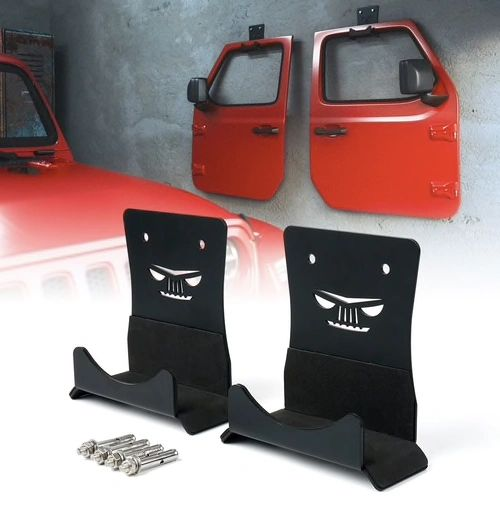 JEEP Wall Mount Door Storage Hanger for 1956-2020 Jeep Wrangler CJ YJ TJ LJ JK JL JT