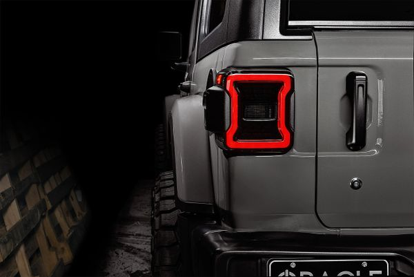 Oracle Lighting 5852-504 Black Series LED Tail Lights for 18-21 Jeep Wrangler JL