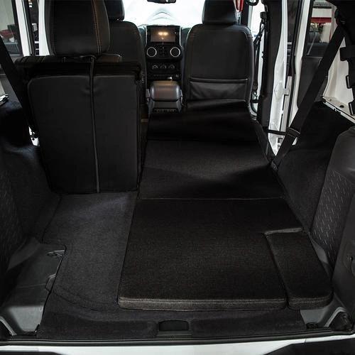 Black NitePad Premium Portable Sleeping Pad Cushion Fits 4-door Jeep Wrangler
