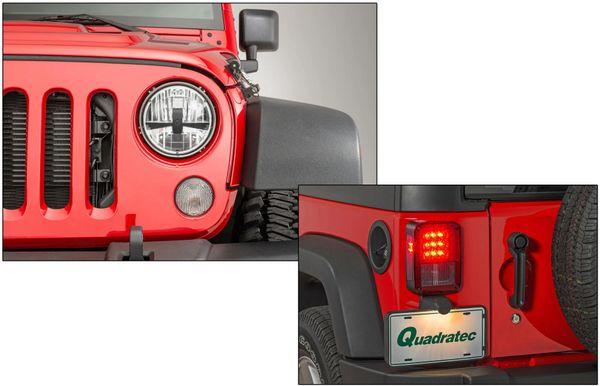 Quadratec Gen II LED Headlights & LED Tail Lights Combo for 07-18 Jeep Wrangler JK 97109.0081