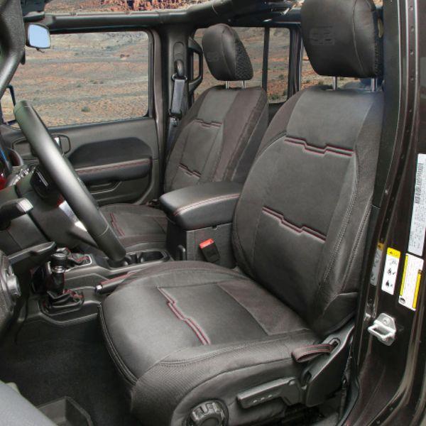 Smittybilt 577101 Smittybilt Gen2 Neoprene Seat Cover Set Front & Rear in Black for 18-21 Jeep Wrangler Unlimted JL 4-Door