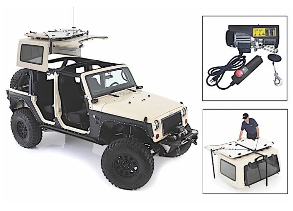 PROMAXX AUTOMOTIVE JEEP HARD TOP HOIST 87-c WRANGLER JEEP5100001