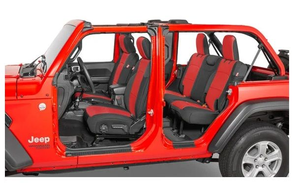 Diver Down Front and Rear Neoprene Seat Covers for 18-21 Wrangler Unlimited JLU 4-Door