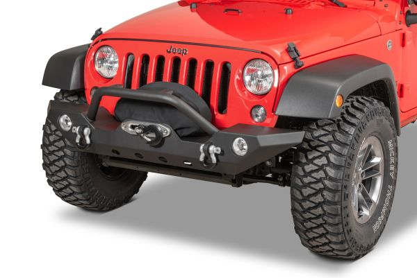 TACTIK HD Front Bumper with Hoop for 07-18 Jeep Wrangler JK 12052.0141