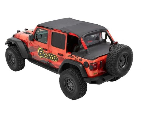 Bestop Header Safari Bikini - '18-21 Wrangler JL 4-Door (Black Diamond) 5261035