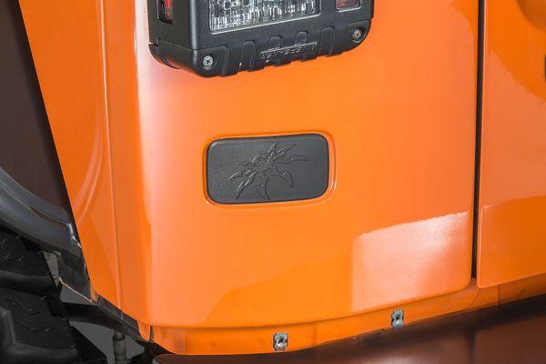 Poison Spyder 17-04-112 Rear License Plate Delete Cover for 07-18 Jeep Wrangler JK
