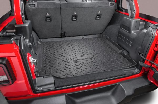Quadratec Ultimate All Weather Rear Cargo Liner for 18-21 Jeep Wrangler JL Unlimited