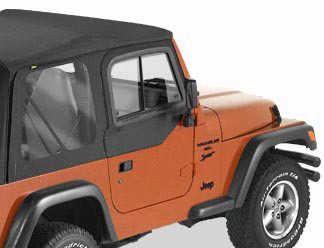 Bestop Upper Door Sliders for 97-06 Jeep Wrangler TJ & Unlimited 51787-35 Black Diamond
