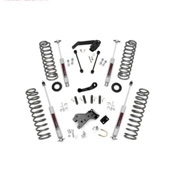 Rough Country 68130 4in Suspension Lift Kit with N3 Shocks for 07-18 Jeep Wrangler Unlimited JK