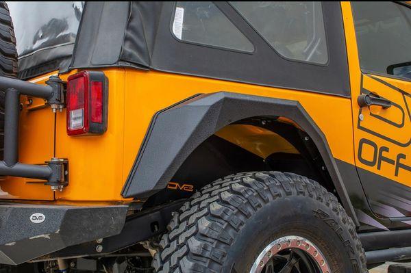 DV8 Offroad FENDB-09 Armor Style Fenders for 07-18 Jeep Wrangler JK