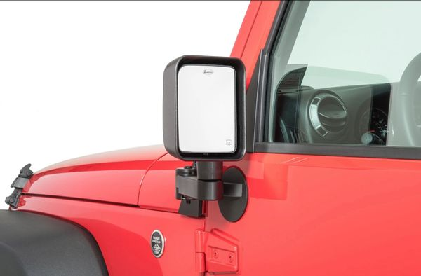 Quadratec Automatic Billet Aluminum Mirror Mover Pair for 11-18 Jeep Wrangler JK with Power Heated Mirrors