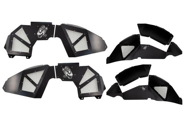 Fishbone Offroad FB33130 Aluminum Inner Fenders Front & Rear Black Aluminum Liners for 18-21 Jeep Wrangler JL
