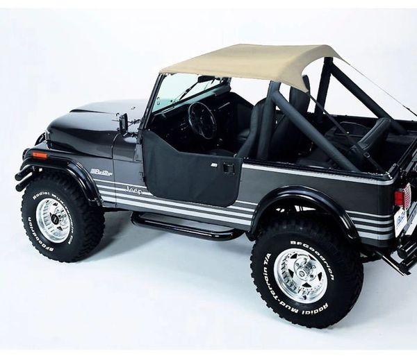 Bestop Traditional Tan Bikini Top for 76-91 Jeep CJ-7, CJ-8 Scrambler & Wrangler YJ