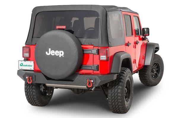 Rugged Ridge Spartan Full Width Rear Bumper for 07-18 Jeep Wrangler JK