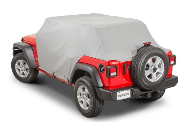 MasterTop 11111609 Full Door Cab Cover for 18-21 Jeep Wrangler JL Unlimited with Soft Top Folded Down