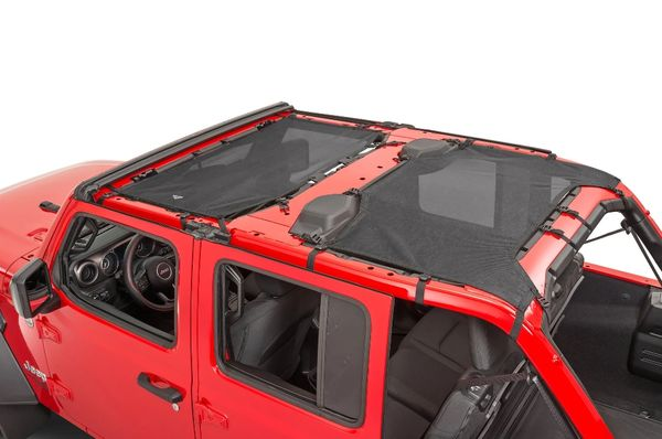 MasterTop ShadeMaker Freedom Mesh Bimini Top Plus for 18-21 Jeep Wrangler JL Unlimited