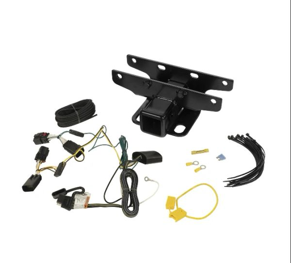 """Rugged Ridge 2"""" Receiver Hitch for 18-21 Jeep Wrangler JL with Optional Wiring Kit"""