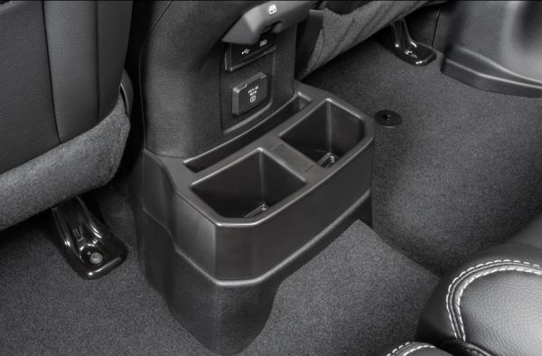 Quadratec 14125 3031 Rear Console Tray for 18-21 Jeep Wrangler JL with Factory Leather Seats
