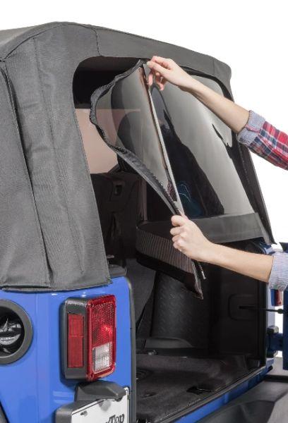 MasterTop Replacement Rear Window for 07-18 Jeep Wrangler JK with Original Mopar Soft Top