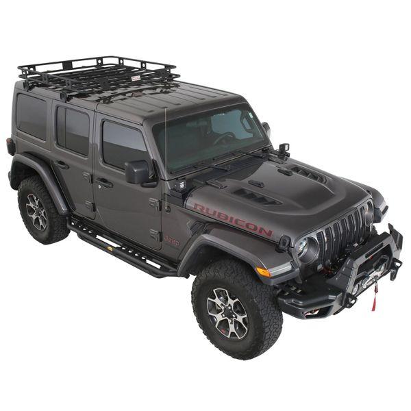Smittybilt 45454JL Defender One-Piece Roof Rack for 18-21 Jeep Wrangler JL Unlimited & Gladiator JT