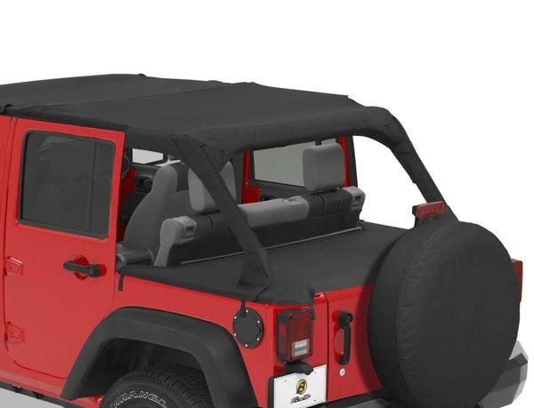 Bestop 90031-35 Duster Deck Cover for 07-18 Jeep Wrangler Unlimited JK 4 Door
