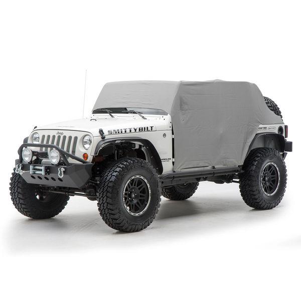 Smittybilt 1069 Cab Cover with Door Flaps in Gray for 07-18 Jeep Wrangler Unlimited JK 4 Door