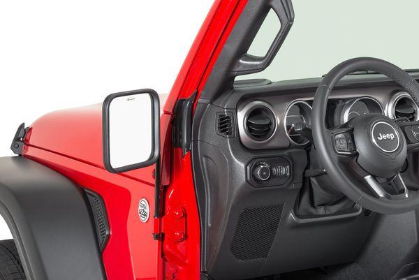 Quadratec Adventure® Mirrors Square or Round Head for 76-21 Jeep Wrangler JL, JK, TJ, YJ, CJ & Gladiator JT