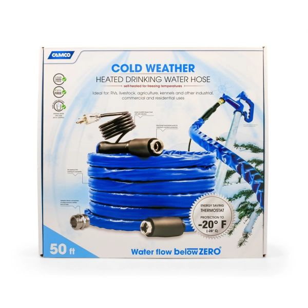 """Camco Heated Drinking Water Hose -20 50' - 5 / 8"""" 22912"""