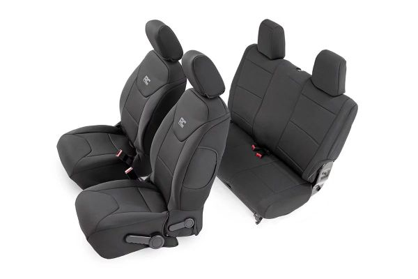 Rough Country 91002A Front & Rear Seat Covers for 08-10 Jeep Wrangler Unlimited JK