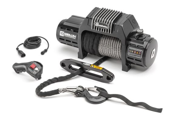 Quadratec Q-Performance Stealth Winch 10,000 lbs with Synthetic Rope