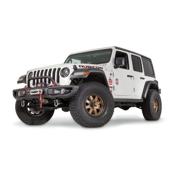 WARN 102355 Low Grille Guard Tube for 18-21 Jeep Wrangler JL & Gladiator JT with Factory Steel Bumper