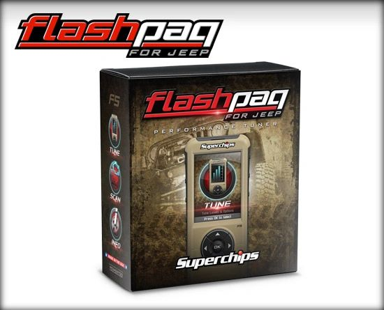 Superchips PERFORMANCE TUNER/CHIP JEEP 15-16 GAS FLASHPAQ F5 3876