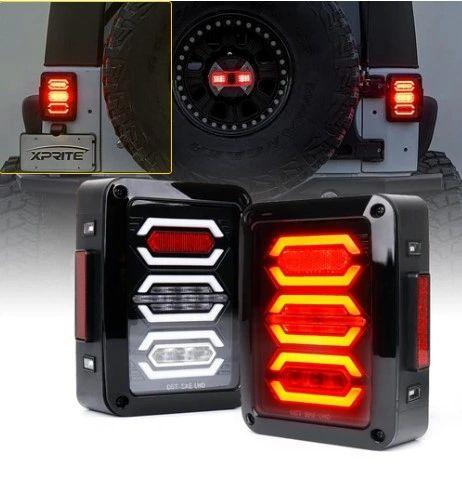 G3 Diamond Series LED Clear Taillight Assembly For 2007 - 2018 Jeep Wrangler JK JKU TL-JK-G3