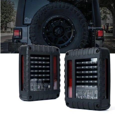 Defender Series LED TailLight Assembly For Jeep Wrangler JK JKU 2007 - 2018