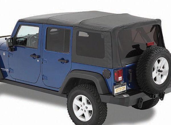 Bestop 54723-35 Supertop NX Soft Top with Tinted Windows for 07-18 Jeep Wrangler Unlimited JK 4 Door
