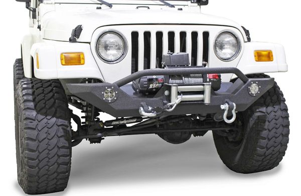 Fishbone Offroad FB22016 Front Winch Bumper with LED's for 87-06 Jeep Wrangler YJ, TJ