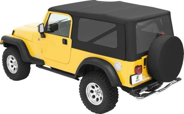 Bestop 79140-35 Sailcloth Replace-a-top Soft Top with Tinted Windows for 04-06 Jeep Wrangler TJ Unlimited