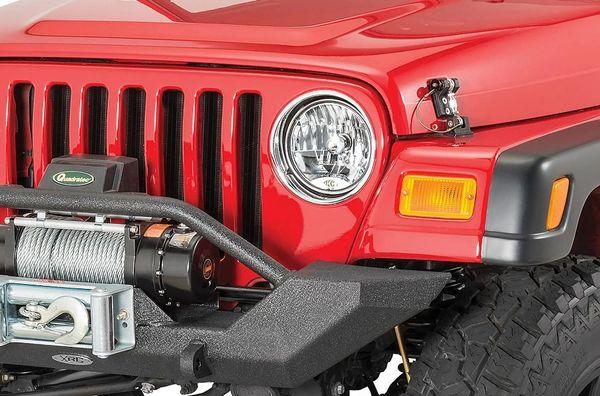 "KC HiLiTES 42301 7"" H4 Halogen Headlight Pair for 45-86 Jeep CJ and 97-06 Wrangler TJ"