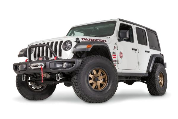 WARN 102350 Mid Grille Guard Tube for 18-21 Jeep Wrangler JL & Gladiator JT with Factory Steel Bumper