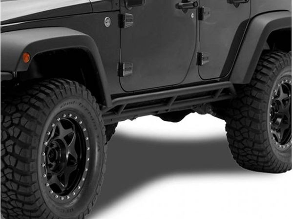 NFAB 07-17 WRANGLER JK 2 DOOR ROCKER GUARD-TEXTURED BLACK J0776643
