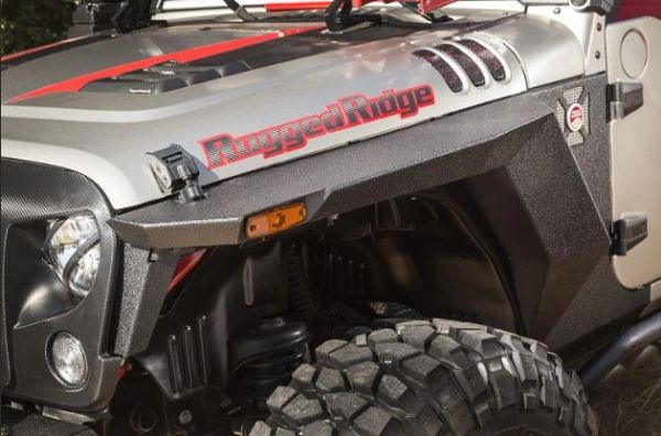 RUGGED RIDGE XHD FRONT ARMOR FENDERS, PAIR; 07-17 JK/JKU 11615.01