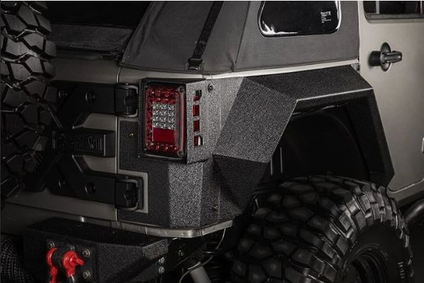 RUGGED RIDGE XHD REAR ARMOR FENDERS, PAIR, 4 DR; 07-17 JKU 11615.02