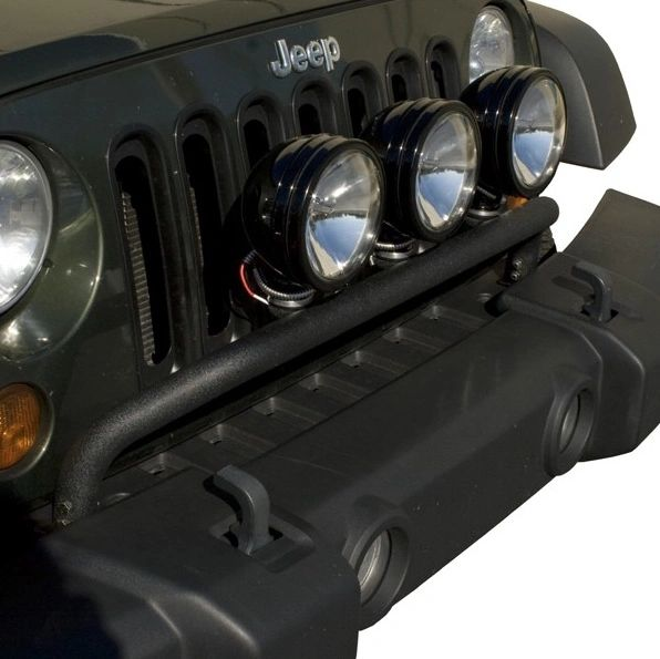 Rugged Ridge Bumper Mounted Light Bar, Textured Black; 07-17 Jeep Wrangler 11232.20